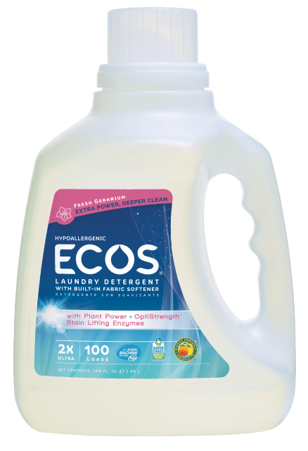 Hypoallergenic Laundry Detergent with Enzymes - Fresh Geranium - Image