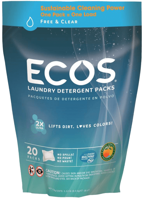 Hypoallergenic Laundry Detergent Packs - Free & Clear - Image